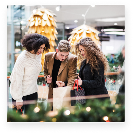 Group of friends shopping image