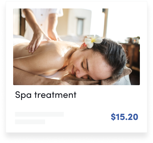Spa treatment card image