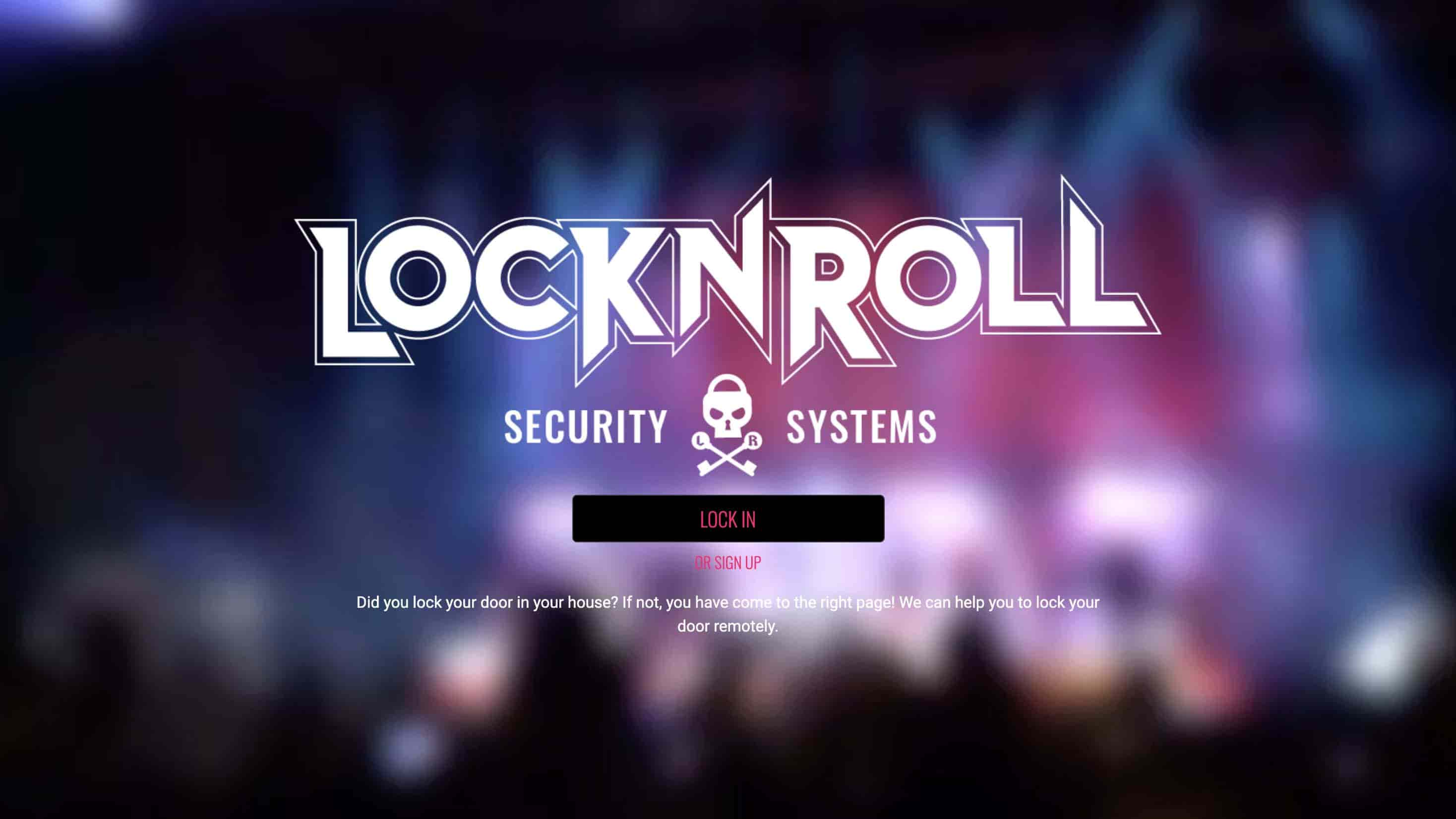 lock and roll logo door lock web application by next academy students