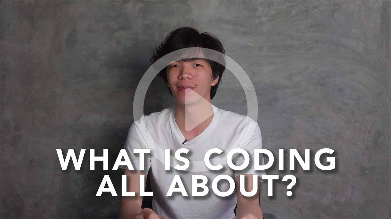 thumbnail of nicholas explaining what coding is all about