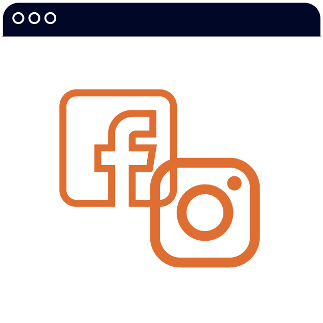 icon of facebook and instagram logo