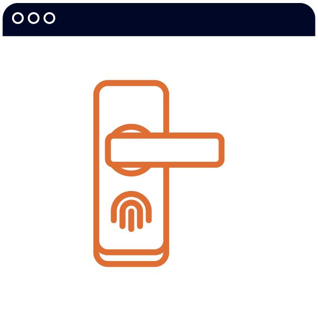 icon of a door handle