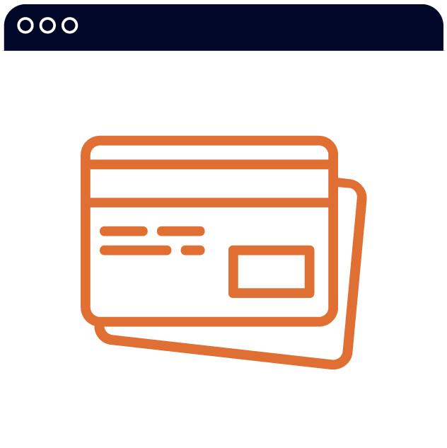 icon of credit cards
