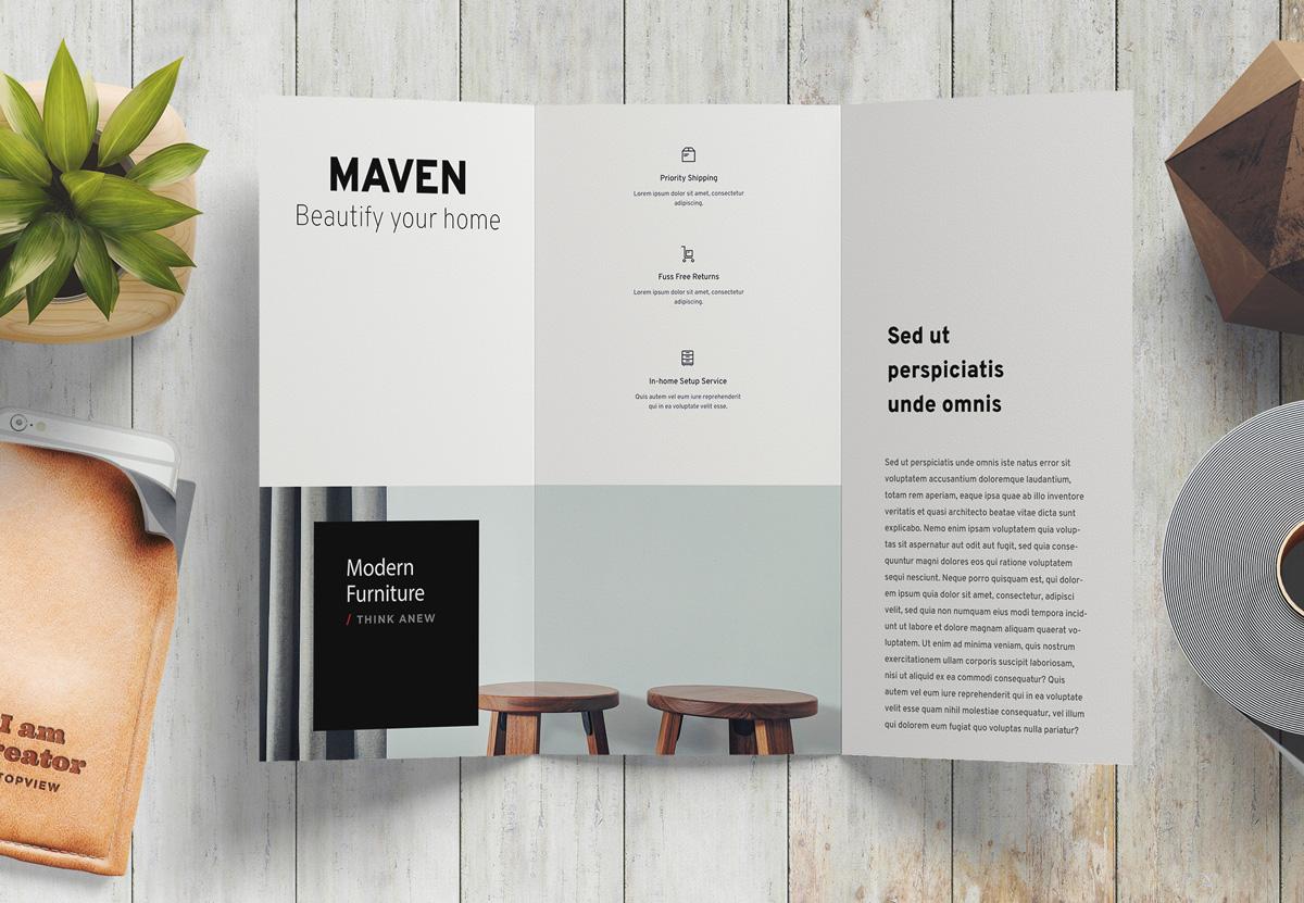 Maven Flyer Print Design Beispiel