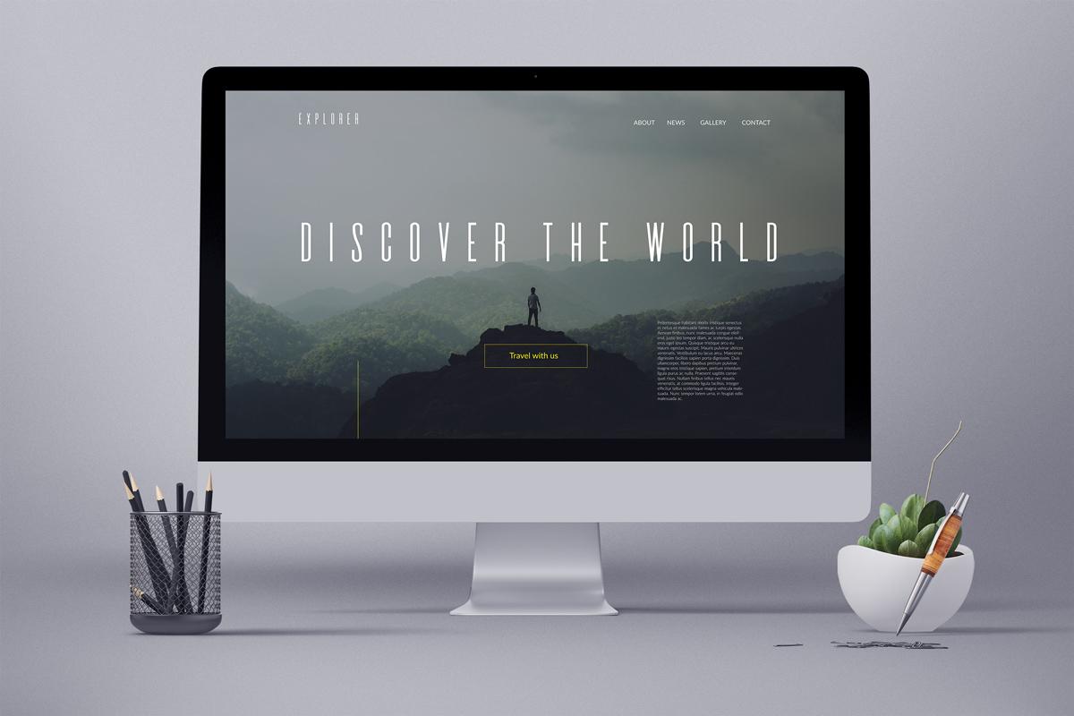 iMac mit wunderschönem Webdesign