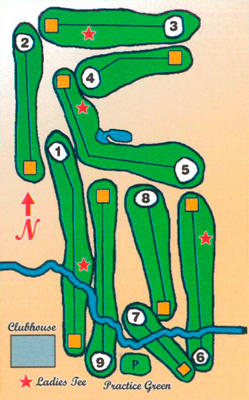 Blackduck Golf Course layout map