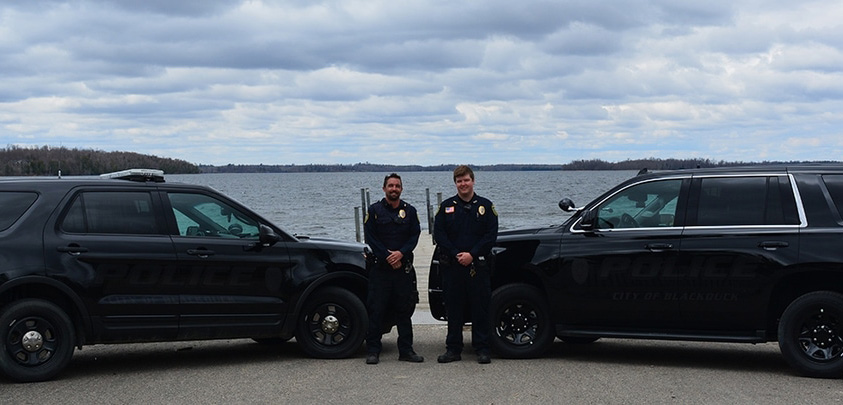Blackduck Police Department Officers and Vehicles