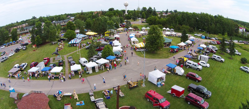 Woodcarver's Festival Aerial Photo