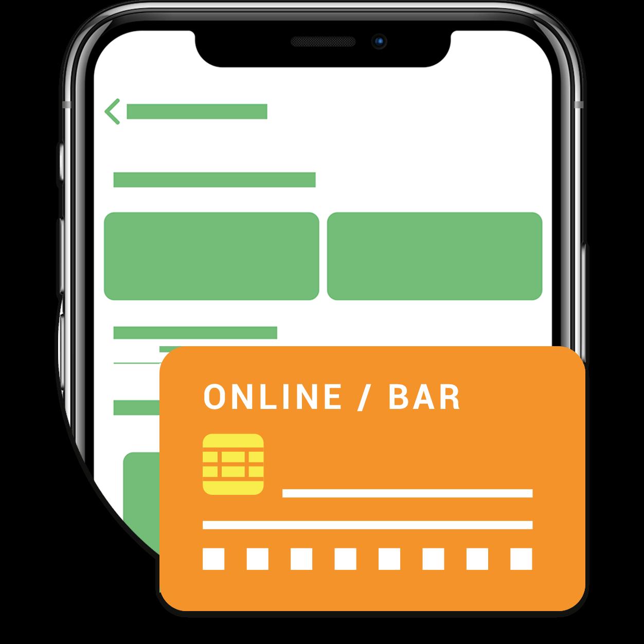 Online oder bar bezahlen