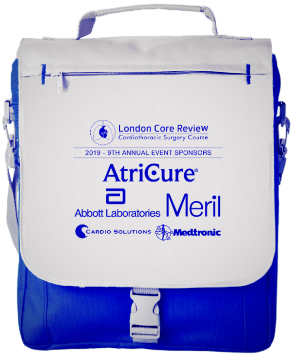 London Core Review Cardiothoracic Surgery Course - Event Conference Bag