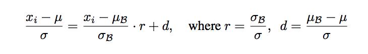 BatchRenorm algorithm