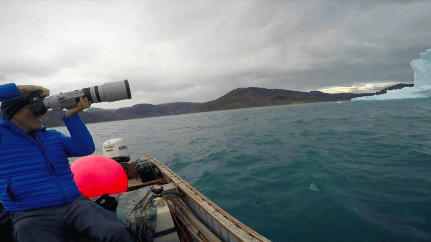 exploring arctic icebergs