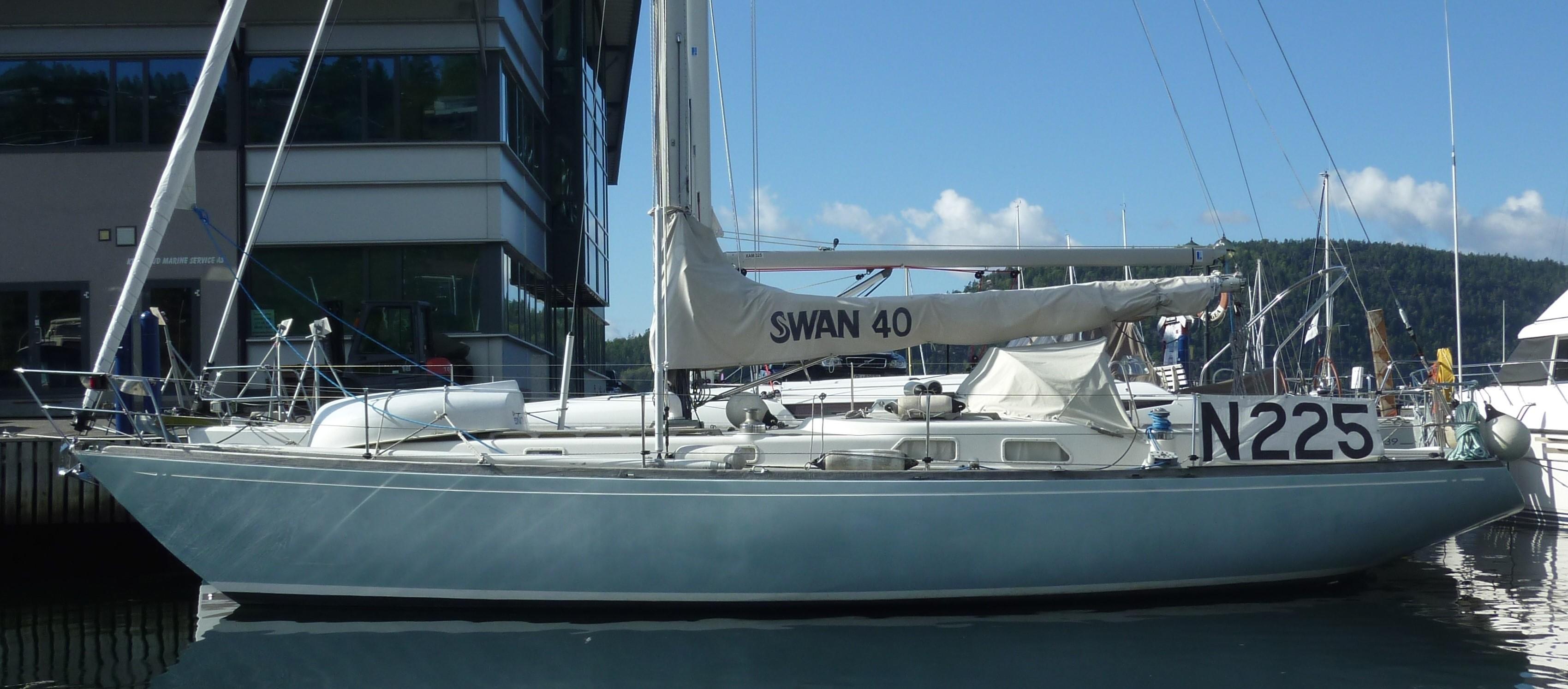 Swan 40 bomtrekk med logo