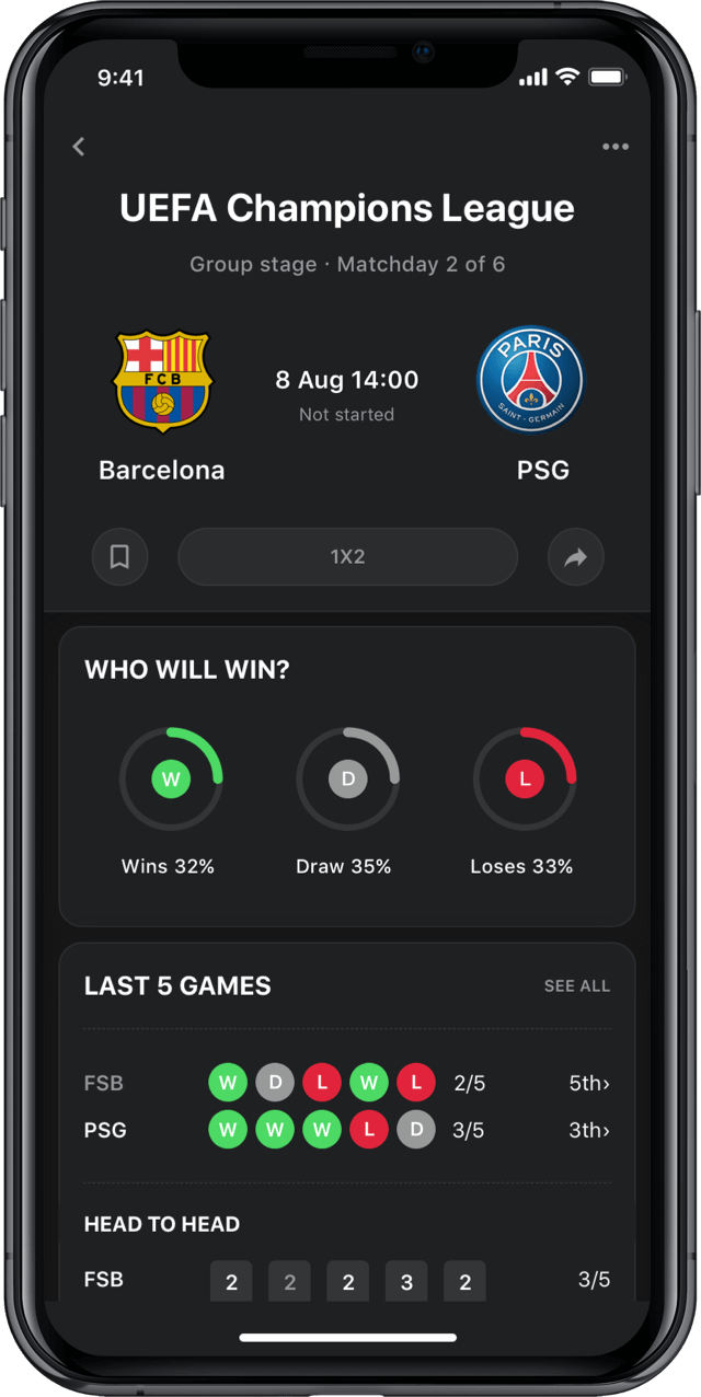 Iphone screen, rewind app, UEFA Champions League
