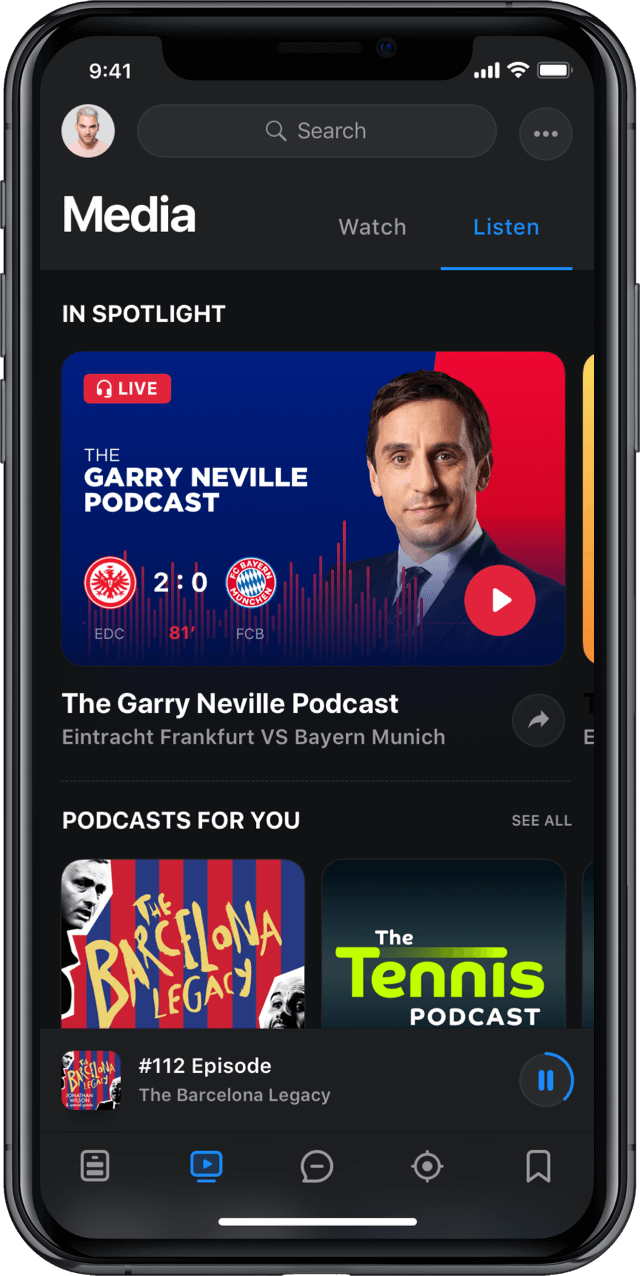 Iphone screen, rewind app, multimedia, podcasts