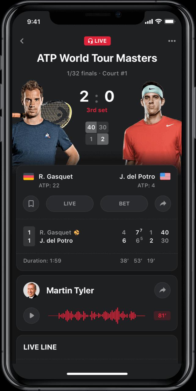 Iphone screen, rewind app, ATC World tour masters