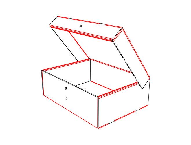 CAJA FEFCO F PARA ARCHIVOS MULTIUSOS AUTOARMABLE BOX LEGAL  ENVIOS, MULTIUSOS, MERCADOLIBRE 385X284X125