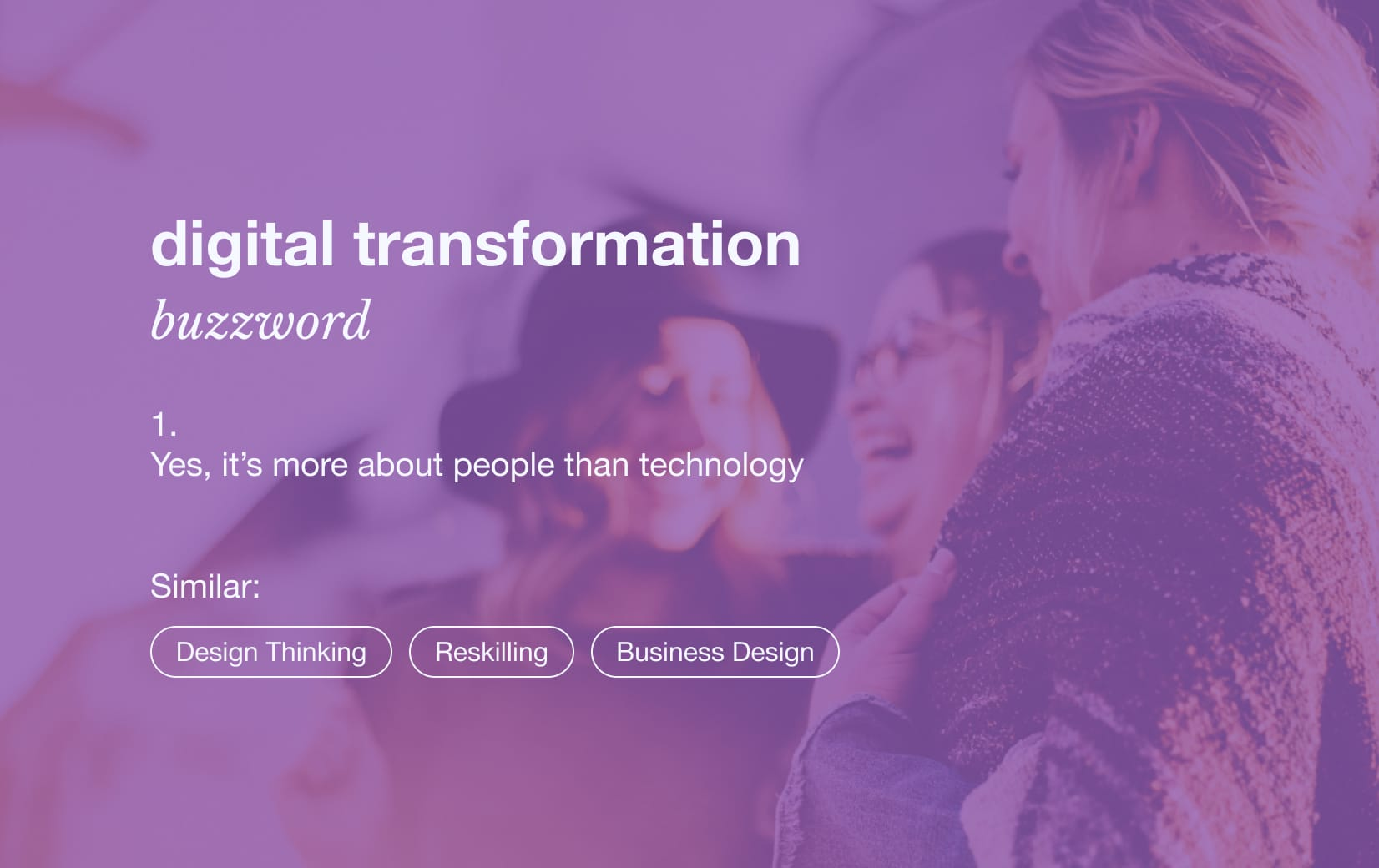 Digital transformation is more about people than technology