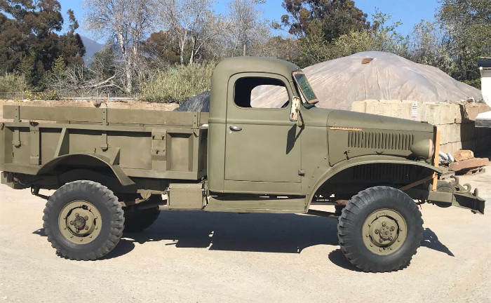 Ex-military vintage vehicle shipping