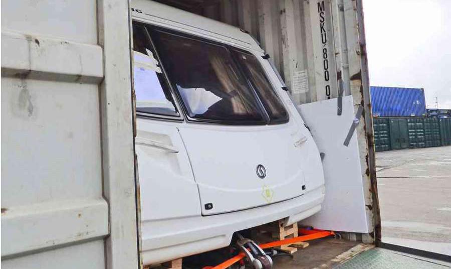 Caravan Loading and Shipping