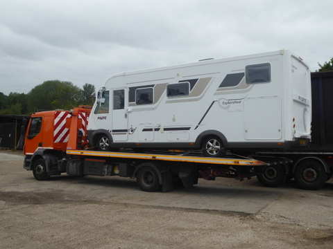 Shipping information for your Motorhome and Caravan.