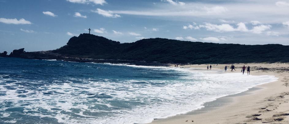 La plage de la pointe des chateaux