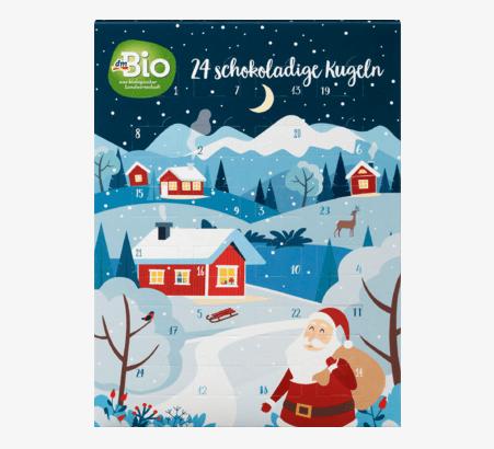dmBio Schokokugel Adventskalender