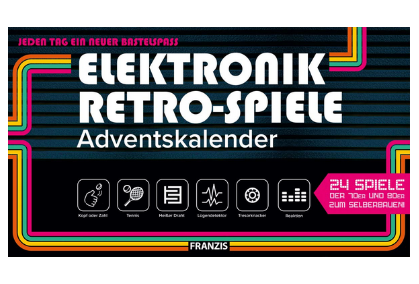 Elektronik Retro Spiele Adventskalender 2020