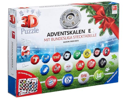 3D Puzzle Bundesliga Adventskalender 2020