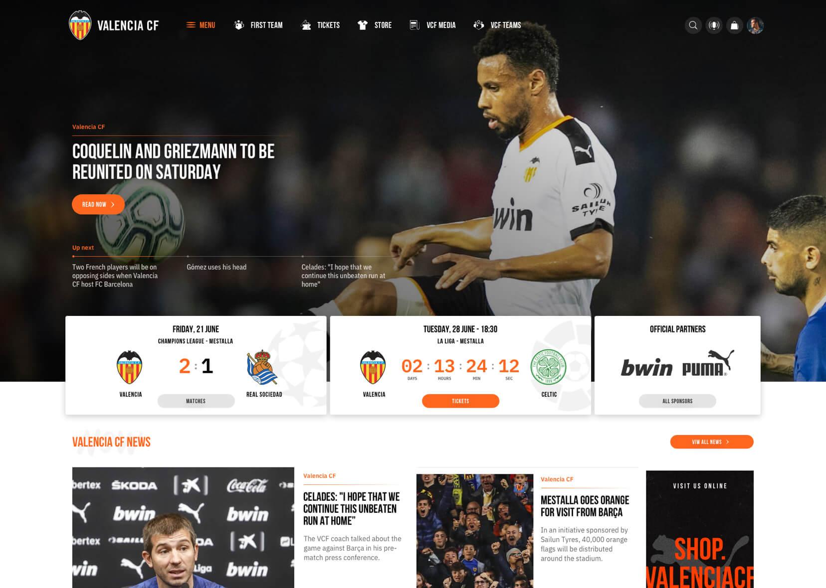 Valencia CF homepage