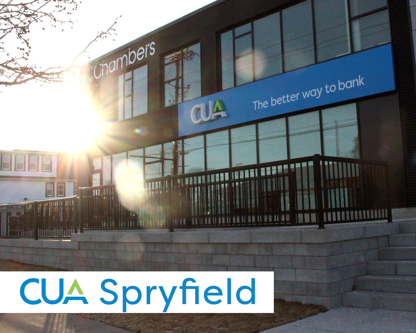 Outside shot of front of new CUA Spryfield branch