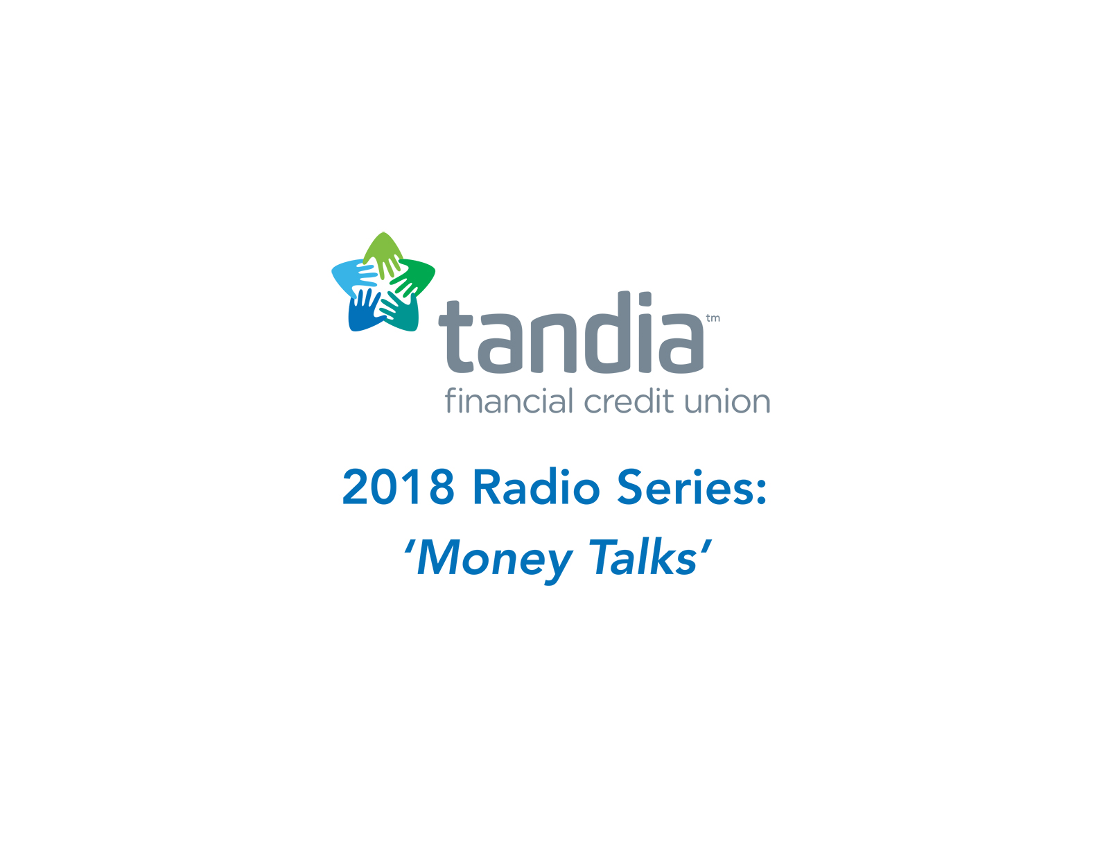 Tandia financial logo - a light blue, dark blue and green star.