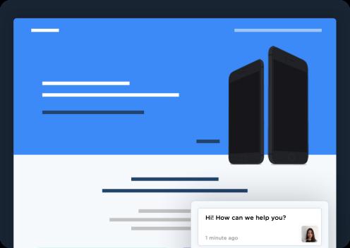 Website design for landing pages