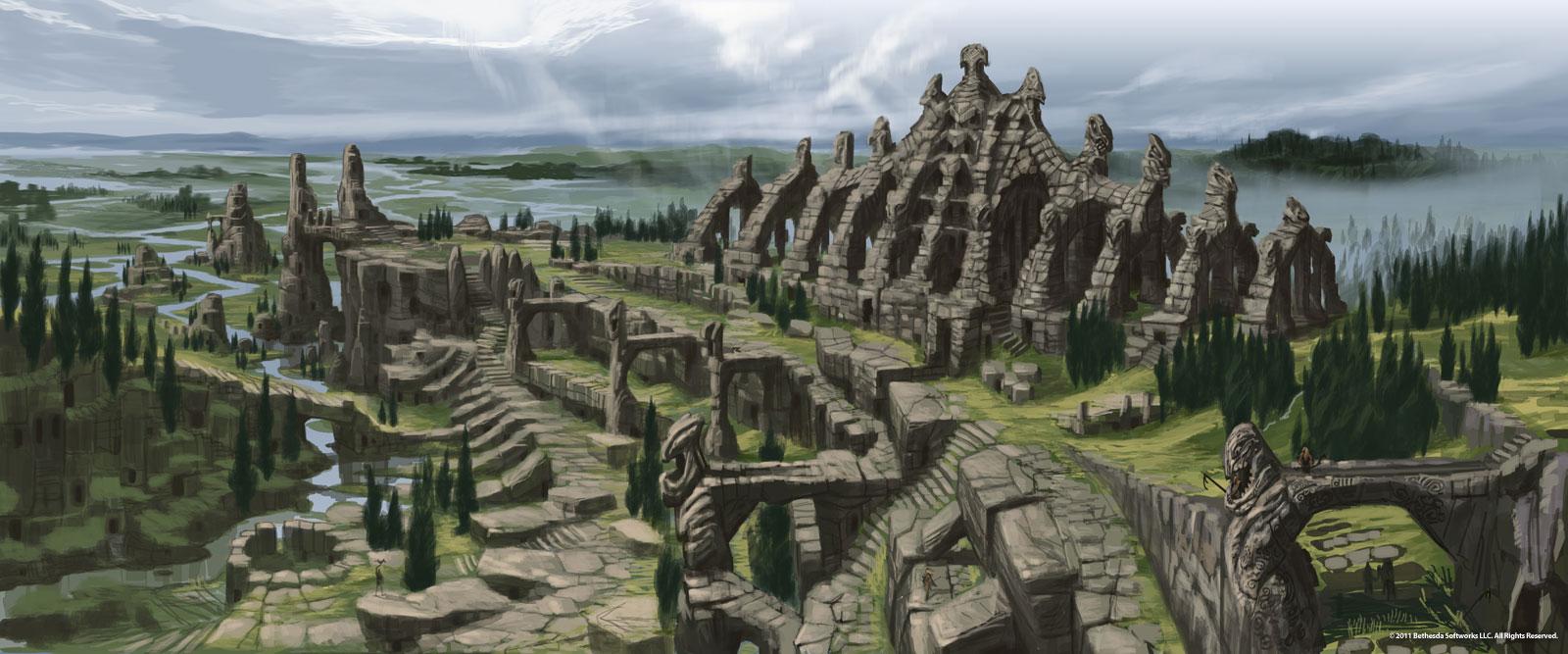 Nordic Ruins. Concept art by Adam Adamowicz.