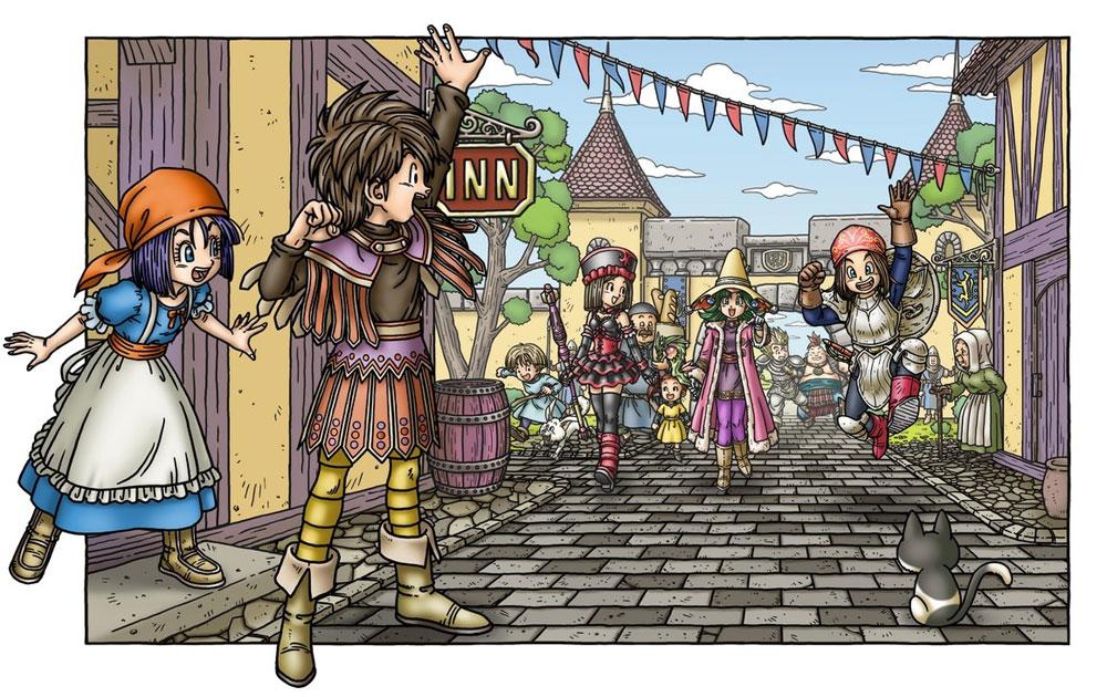 Promo art for Dragon Quest IX