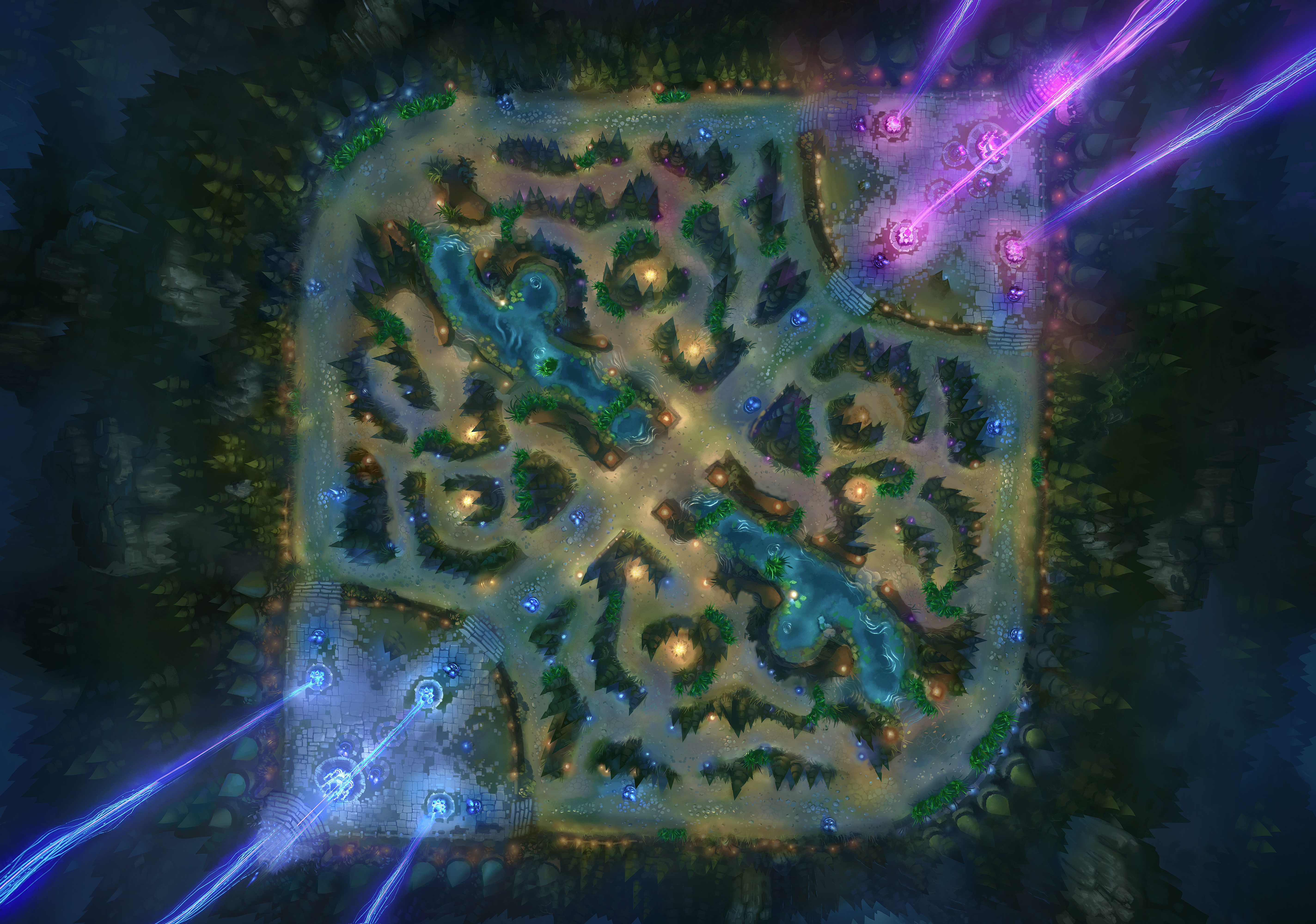 Summoners Rift in League of Legends