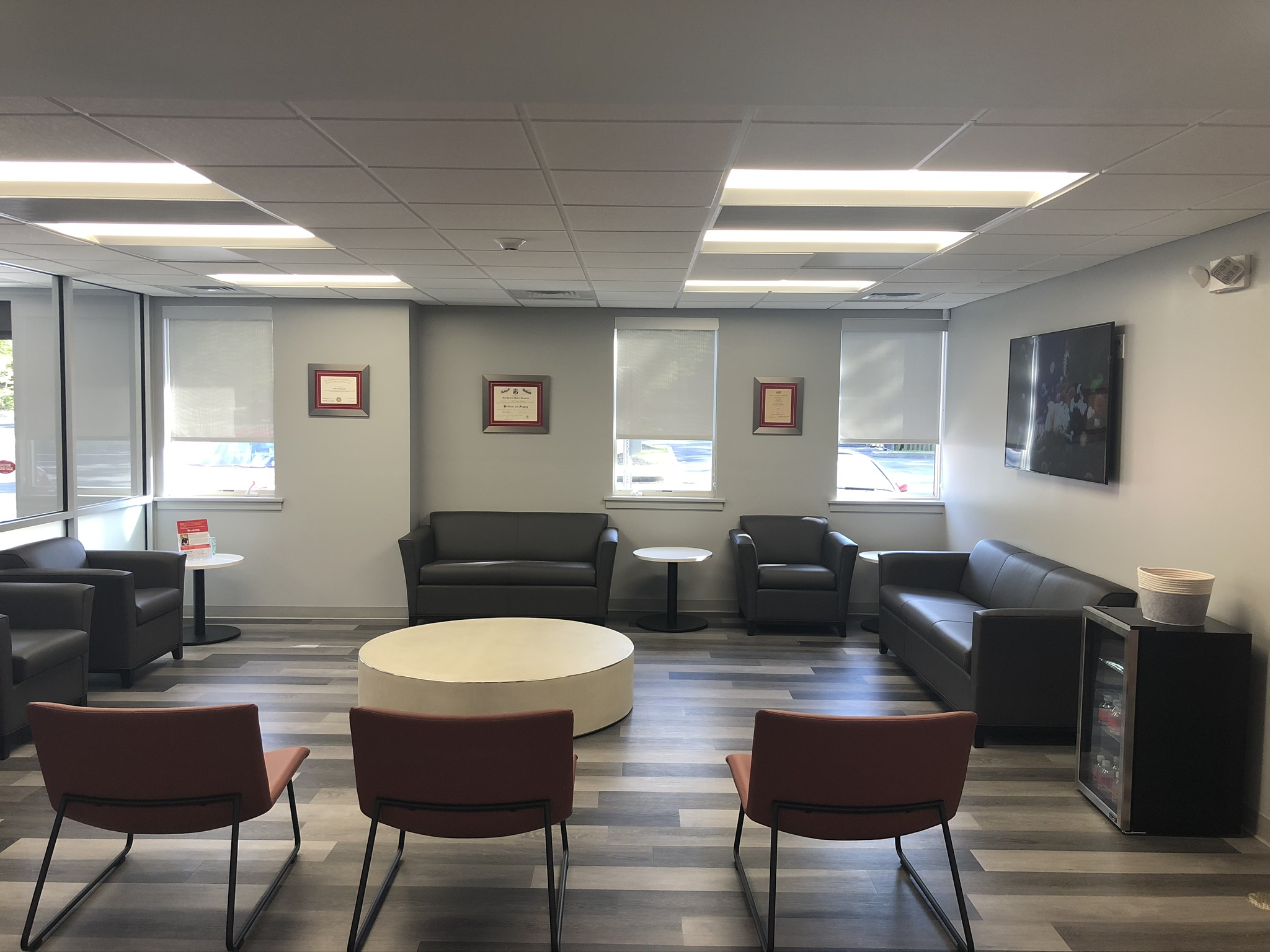 Large, comfortable waiting area