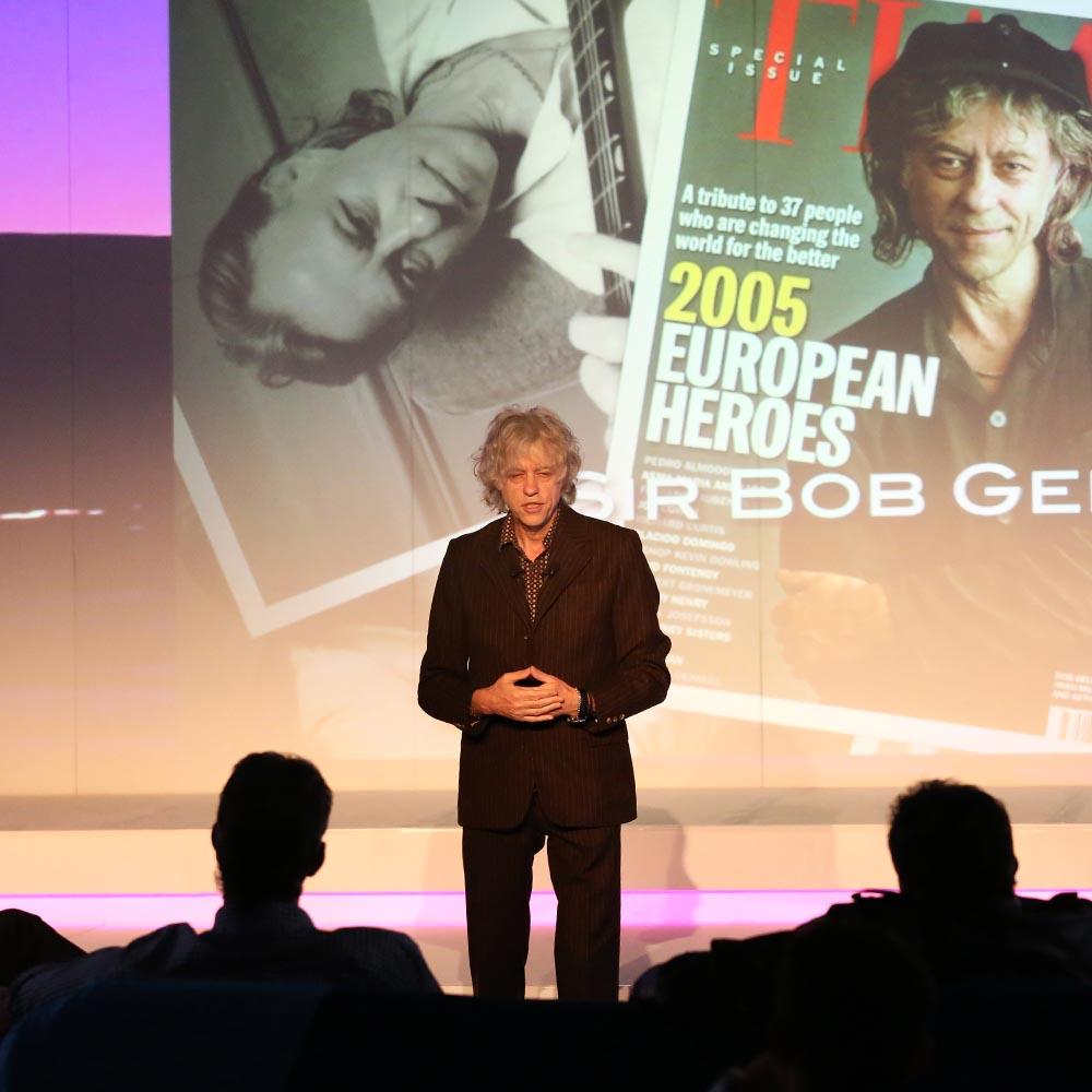 Conference Bob Geldof