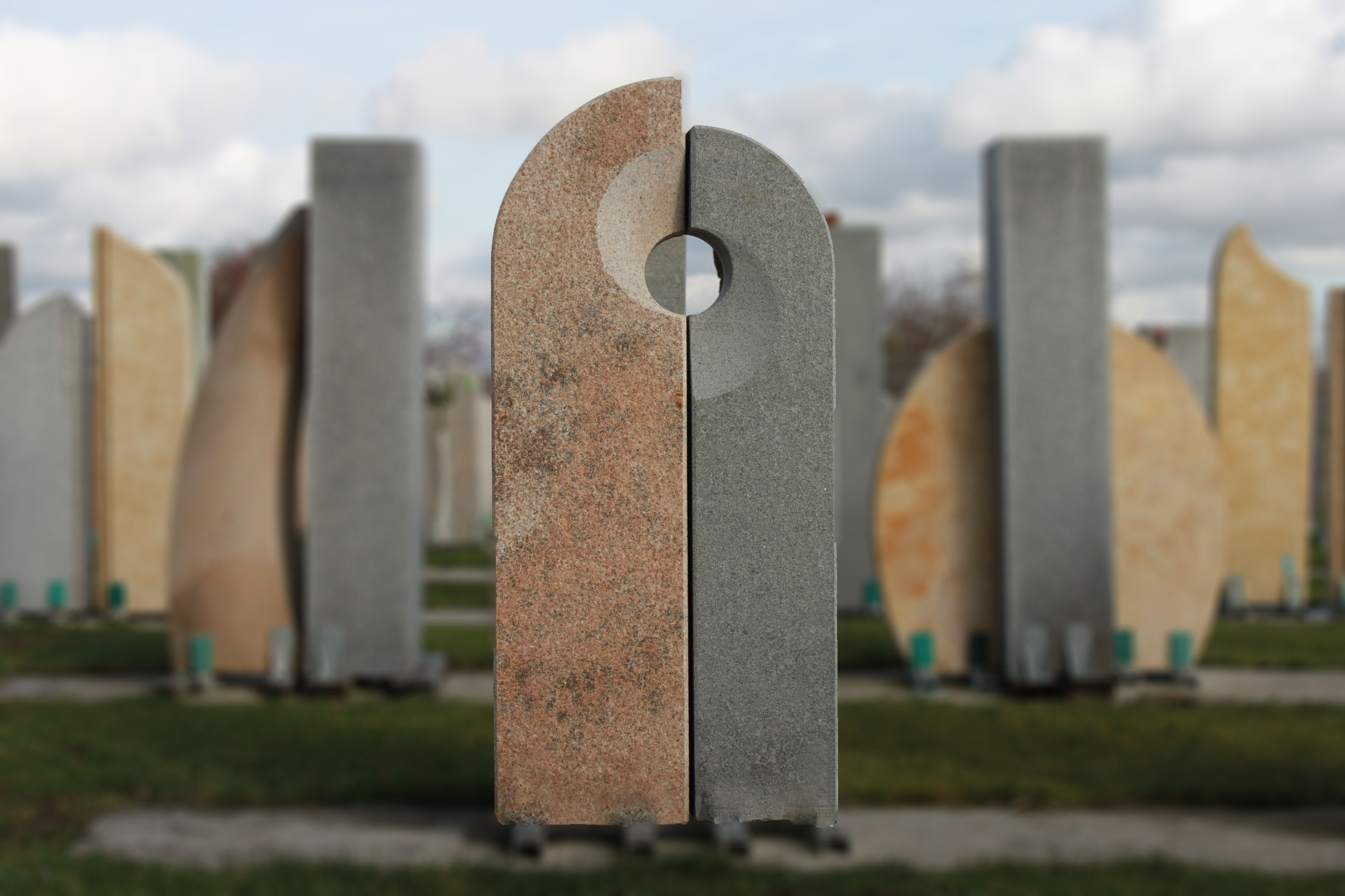 granit sandstein doppelgrab kunst