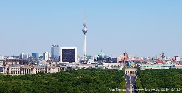 Grabsteine in Berlin Stadtansicht