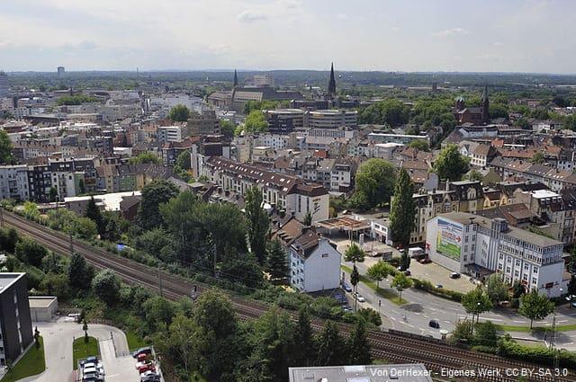 Bochum Vogelperspektive Luftansicht