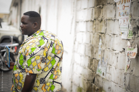 Picture of Jean Bosco - Because of his tumor his shirt bulges on his back