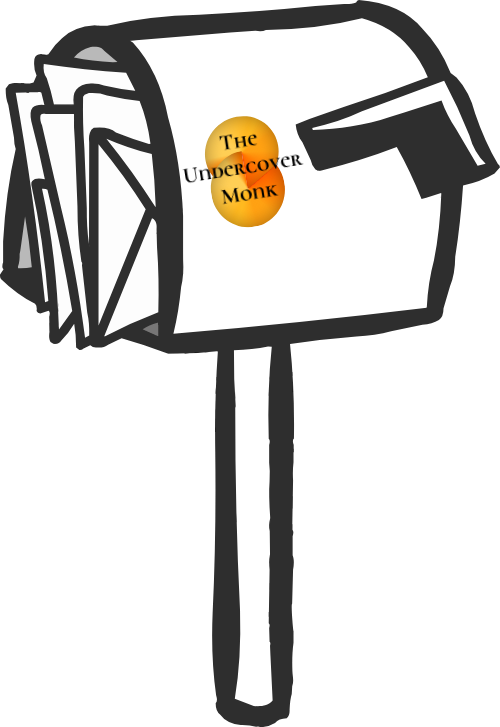 The Undercover Monk letterbox