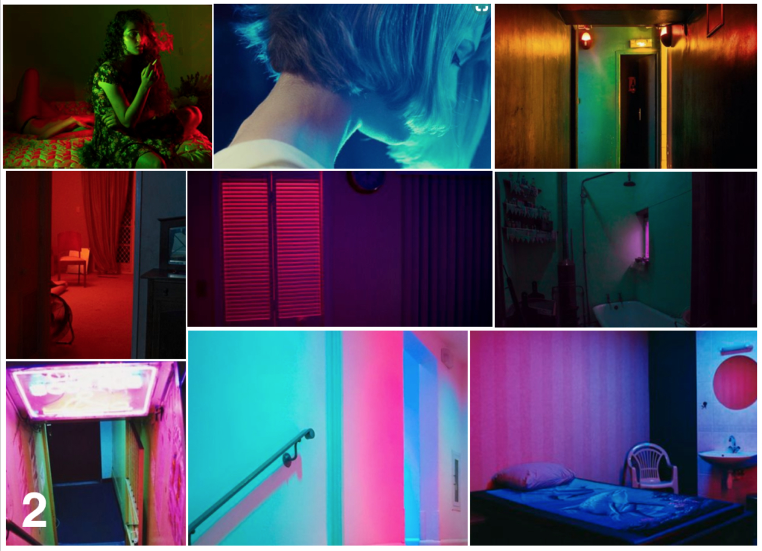 Neon Noir Hard-ish Bodies Mood Board 2