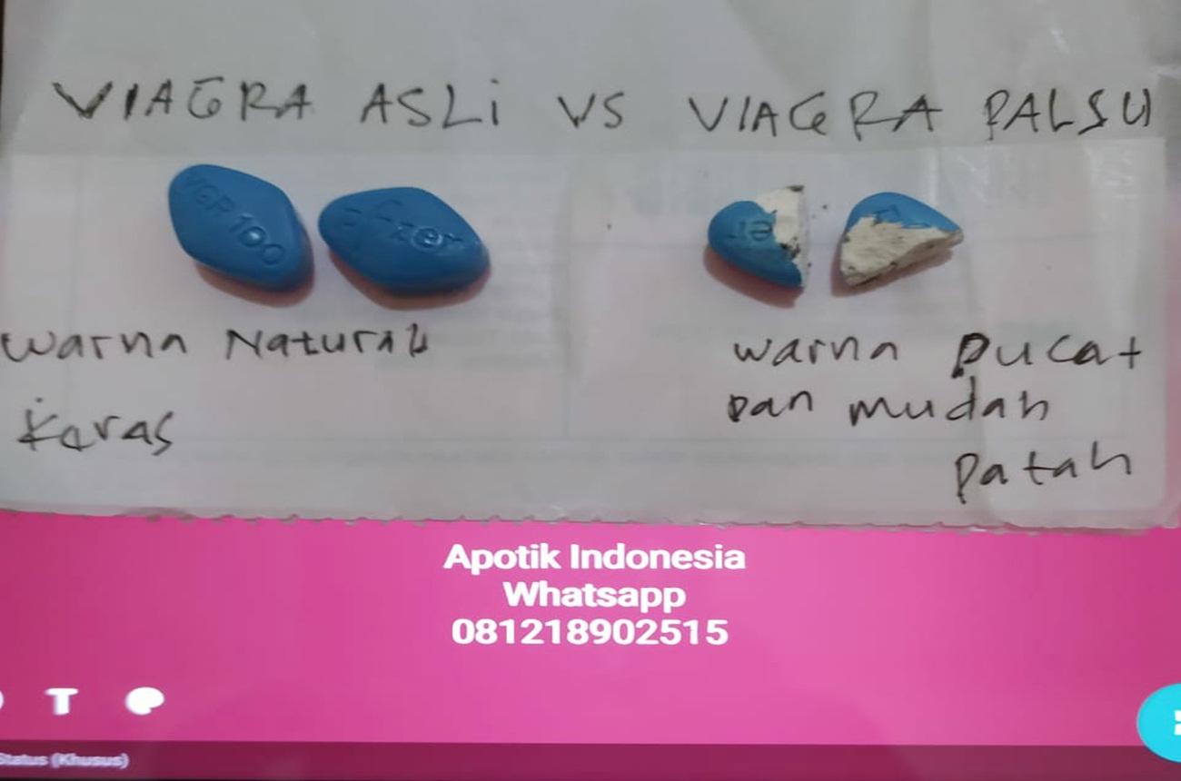 Perbedaan viagra asli dan palsu
