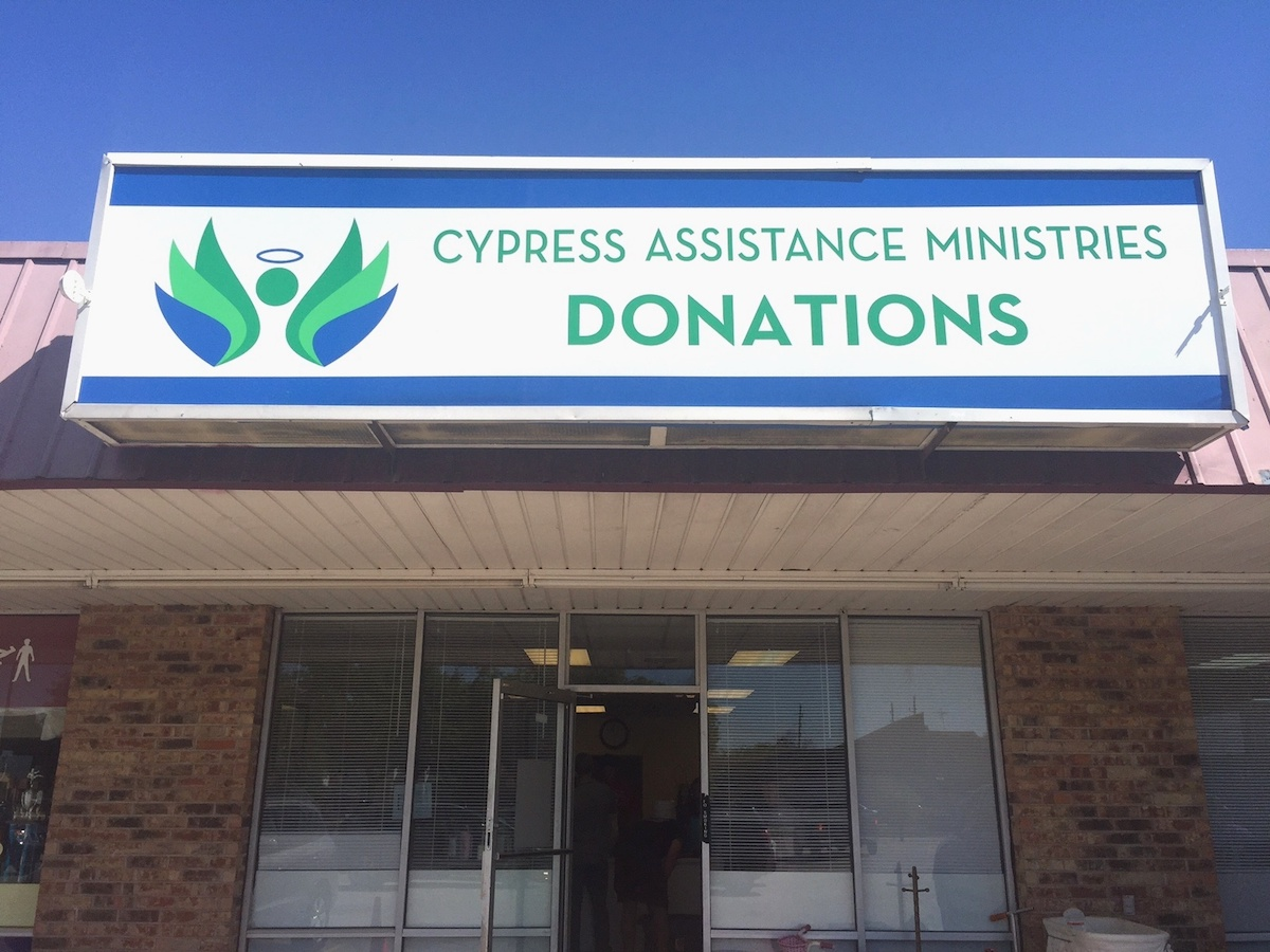 inistries' donation center