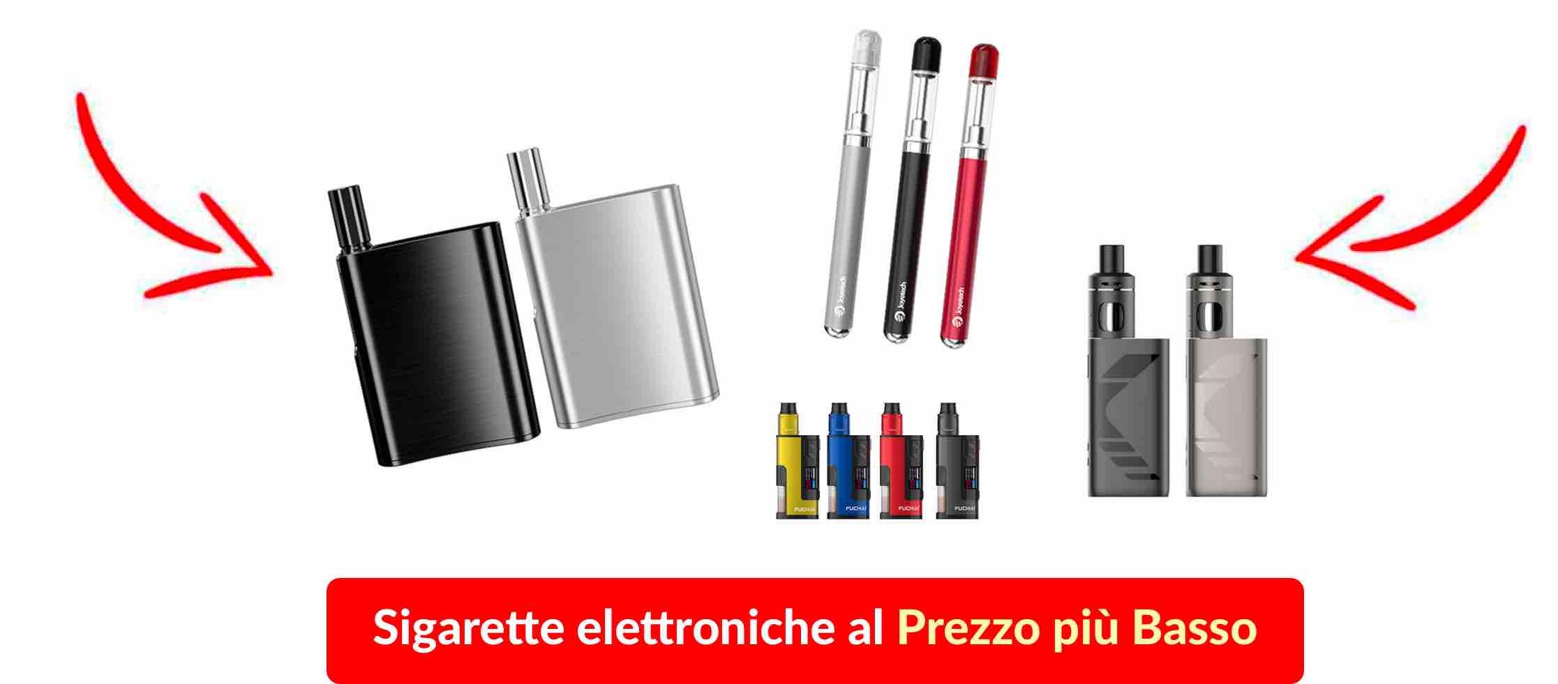 una collezione di sigarette elettroniche