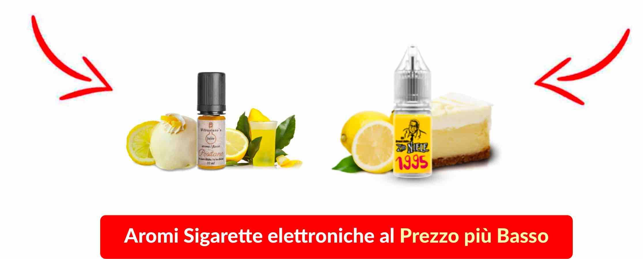 una collezione di aromi per sigarette elettroniche