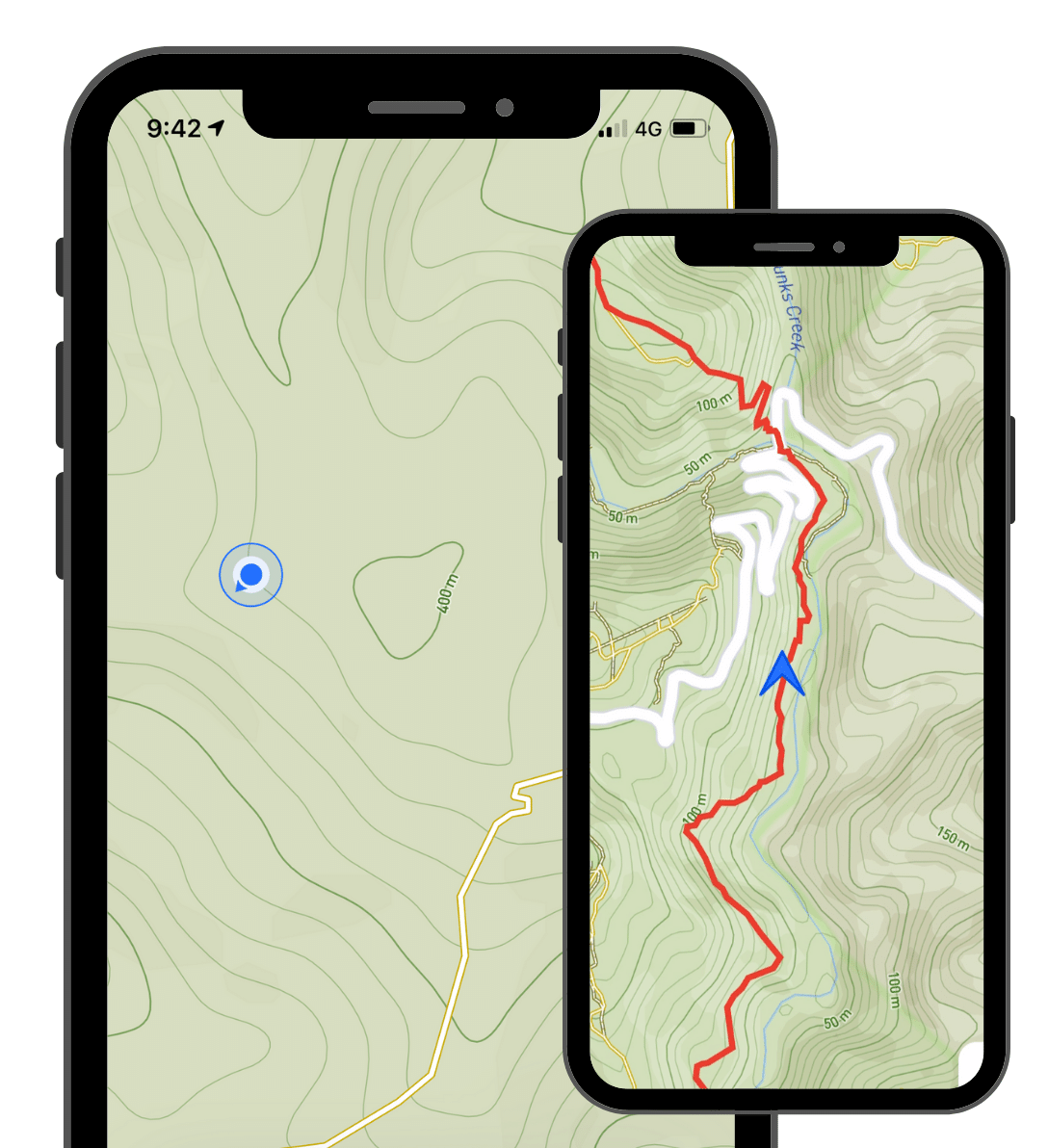 The best trail running and hiking app. An example of excellent maps on the Capra app.