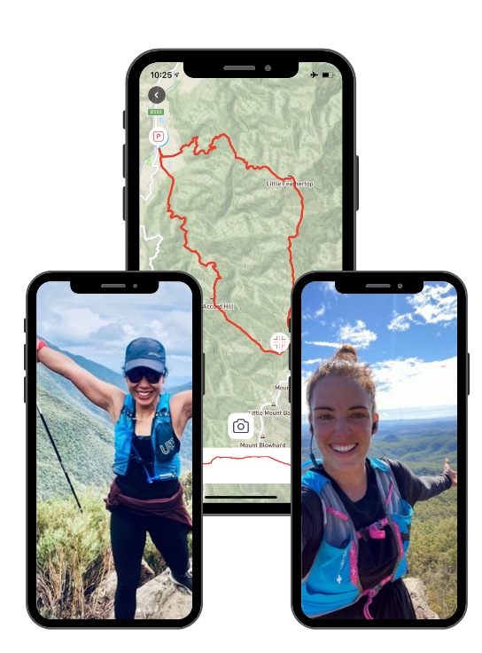 Capra App homepage happy trail runners and hikers exploring.